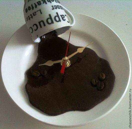 """Часы для дома ручной работы. Ярмарка Мастеров - ручная работа. Купить Часы настенные """"Кофе подан!"""" - 2 варианта. Handmade."""