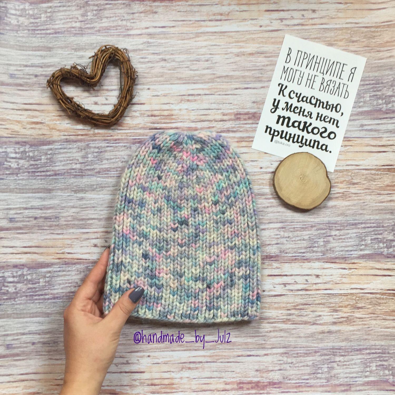 Зимняя шапка натуральная шерсть, Шапки, Москва,  Фото №1