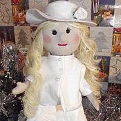 Куклы Тильда ручной работы. Ярмарка Мастеров - ручная работа Куклы Тильда: Кукла текстильная в белом. Handmade.