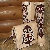 """Обувь ручной работы. Ярмарка Мастеров - ручная работа Комплект """"Весенний"""". Handmade."""