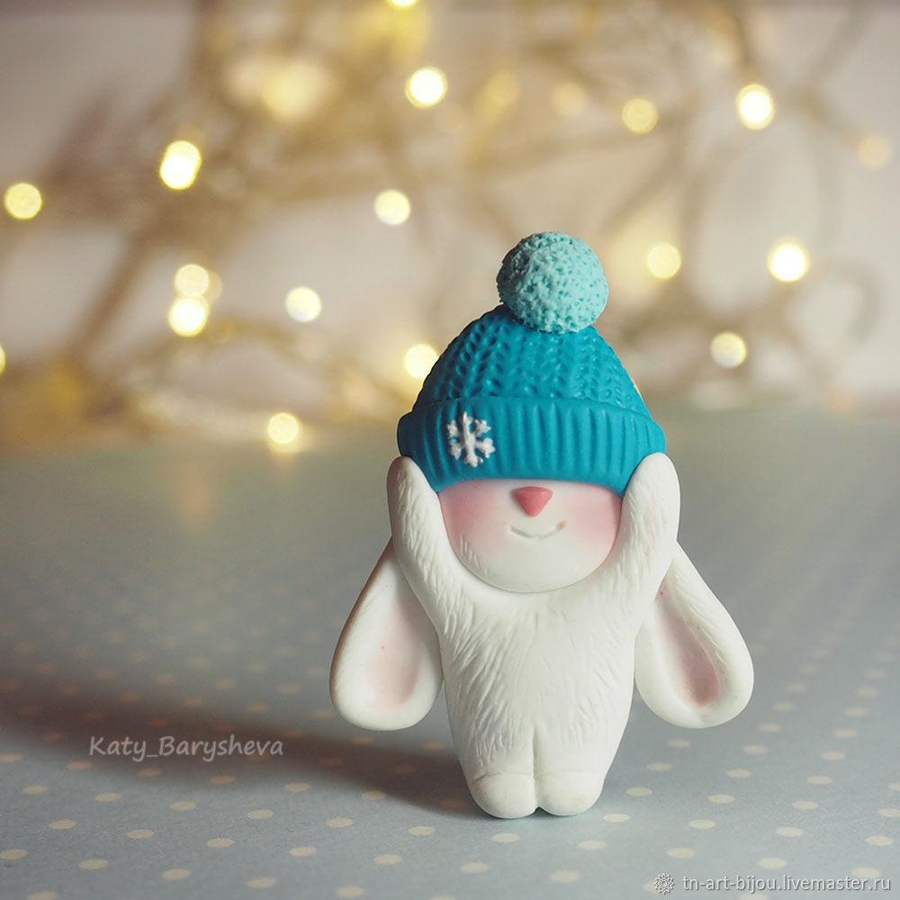 Brooch ' Bunny in a hat', Brooches, Sochi,  Фото №1