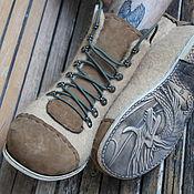 """Обувь ручной работы. Ярмарка Мастеров - ручная работа Валяные ботинки """"Dregon"""". Handmade."""