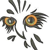 Дизайн и реклама ручной работы. Ярмарка Мастеров - ручная работа профиль совы машинной вышивки. Handmade.