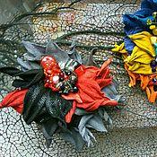 """Украшения ручной работы. Ярмарка Мастеров - ручная работа Брошь-заколка """"клюква в осеннем лесу"""". Handmade."""