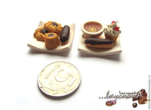 Еда ручной работы. Ярмарка Мастеров - ручная работа. Купить Миниатюрная еда для кукол из полимерной глины.выпечка. Handmade. Миниатюра