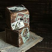"""Для дома и интерьера ручной работы. Ярмарка Мастеров - ручная работа Интерьерные кубики """"Vintage"""". Handmade."""
