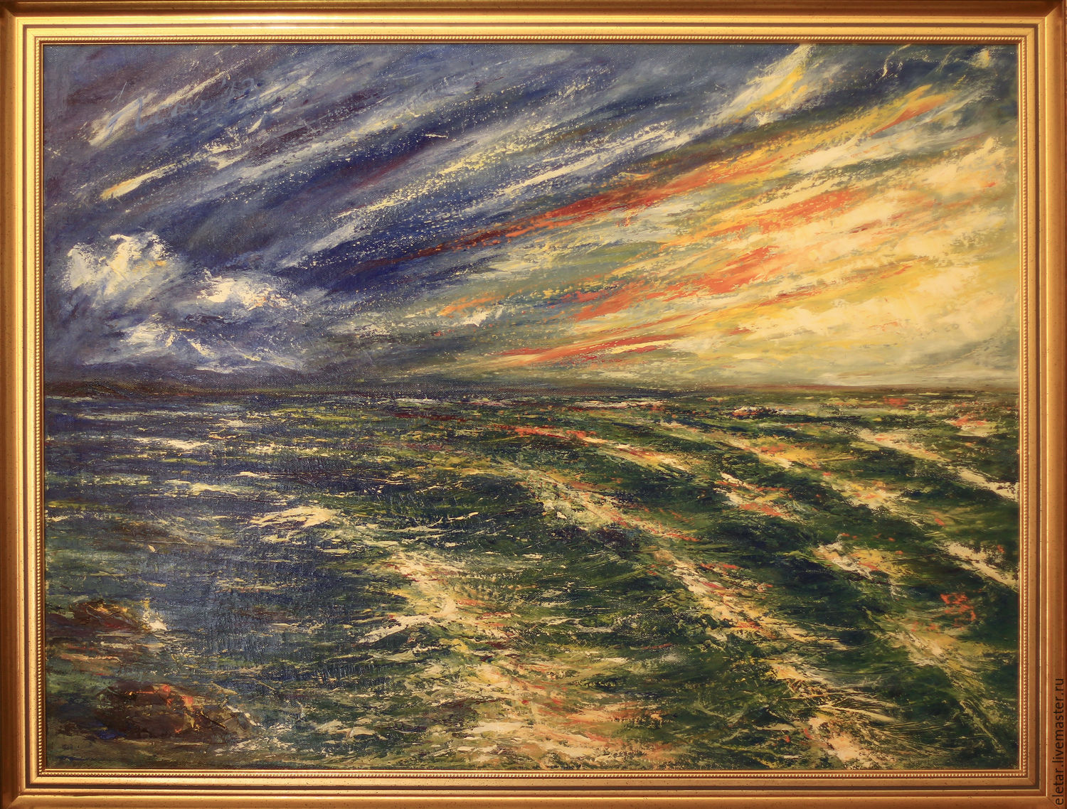 Landscapes Handmade Livemaster Original Seascape Paintings On Canvas Sea Painting Abstract