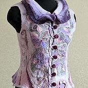 """Одежда ручной работы. Ярмарка Мастеров - ручная работа валяный жилет """"Lilac"""". Handmade."""