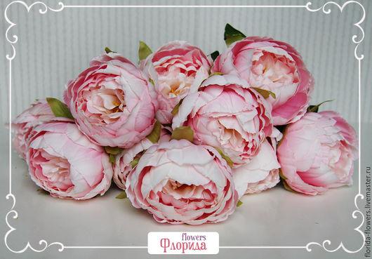 Материалы для флористики ручной работы. Ярмарка Мастеров - ручная работа. Купить Букет пионов 10 голов (Розовый), искусственные цветы. Handmade.