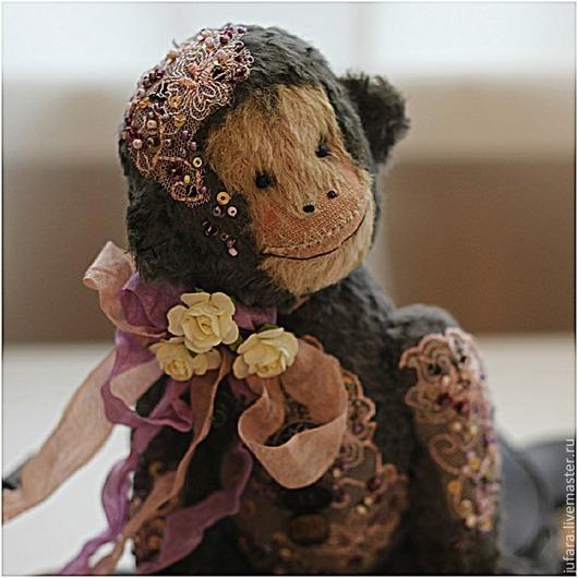Мишки Тедди ручной работы. Ярмарка Мастеров - ручная работа. Купить Teddy monkey. Handmade. Темно-серый, обезьянка