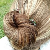 Украшения handmade. Livemaster - original item Stud Copper Barrette Wire Beads Copper Boho Studs. Handmade.