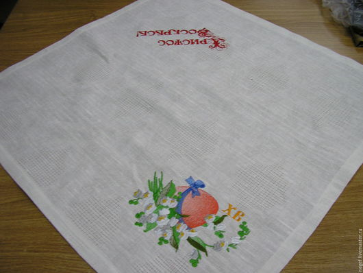 Текстиль, ковры ручной работы. Ярмарка Мастеров - ручная работа. Купить салфетка пасхальная с ландышами. Handmade. Белый, салфетка в корзину