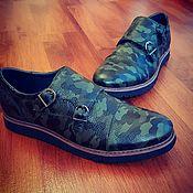 Обувь ручной работы. Ярмарка Мастеров - ручная работа Double Monk Military. Handmade.
