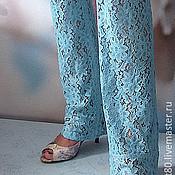 Одежда ручной работы. Ярмарка Мастеров - ручная работа Джинсы из гипюра. Handmade.