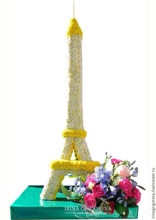 Букеты ручной работы. Ярмарка Мастеров - ручная работа. Купить Эфелева башня из цветов. Handmade. Желтый, французский шик