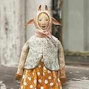 Подарки к праздникам ручной работы. Ярмарка Мастеров - ручная работа Ватная игрушка на ёлку Коза. Handmade.