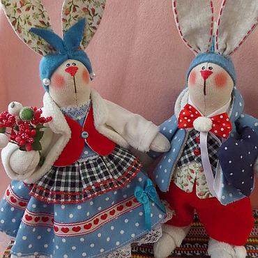 Куклы и игрушки ручной работы. Ярмарка Мастеров - ручная работа Тильды: зайчики. Handmade.