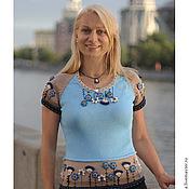 Одежда handmade. Livemaster - original item Buttercups-flowers...blouse with a short sleeve.. Handmade.