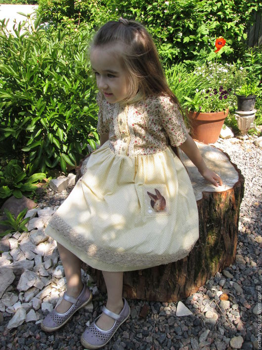 """Одежда для девочек, ручной работы. Ярмарка Мастеров - ручная работа. Купить Платье """" Алиса"""". Handmade. Комбинированный, американский хлопок"""