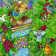 Детская ручной работы. Принт Плюшевый заяц. Авторская картина в детскую. Добрые акварели (yovin). Интернет-магазин Ярмарка Мастеров.