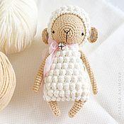 handmade. Livemaster - original item Sheep. Toy in hand. Handmade.