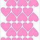 Детская ручной работы. Виниловые наклейки (стикеры) на стену - СЕРДЕЧКИ. Александра (moodstudio). Ярмарка Мастеров. Виниловые стикеры, винил
