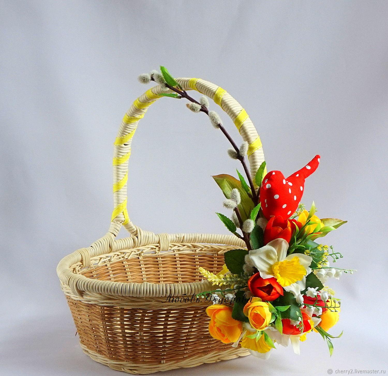 Как сделать корзинку своими руками и с цветами