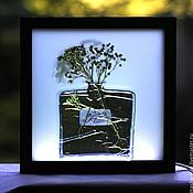 Для дома и интерьера ручной работы. Ярмарка Мастеров - ручная работа Букетик в флаконе. Handmade.