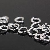 Материалы для творчества handmade. Livemaster - original item 10 PCs. Twisted jump rings 5 mm rhodium plated. South Korea (2088). Handmade.