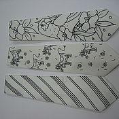 Материалы для творчества ручной работы. Ярмарка Мастеров - ручная работа Белые галстуки с нанесенным резервом для росписи. Handmade.
