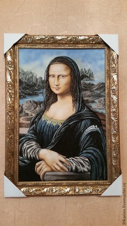Репродукции ручной работы. Ярмарка Мастеров - ручная работа. Купить Мона Лиза. Handmade. Зеленый, яшма