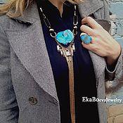 Украшения ручной работы. Ярмарка Мастеров - ручная работа ZIPPER turquoise. Handmade.