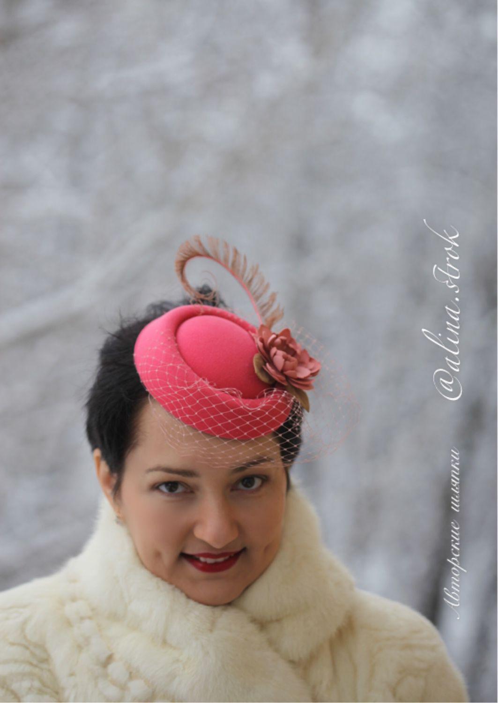 Шляпка таблетка с вуалью своими руками фото 147