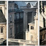 Картины и панно ручной работы. Ярмарка Мастеров - ручная работа Париж фото постеры Триптих, Архитектура «Высокие параллели Риволи». Handmade.