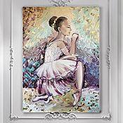 Картины ручной работы. Ярмарка Мастеров - ручная работа Картина маслом «Балерина». Handmade.