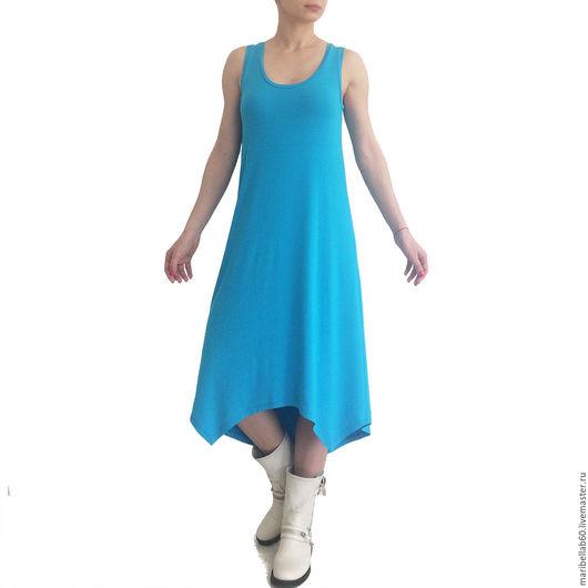 Платья ручной работы. Ярмарка Мастеров - ручная работа. Купить ISLA LONG Летнее женское платье Сарафан с асимметричным подолом. Handmade.