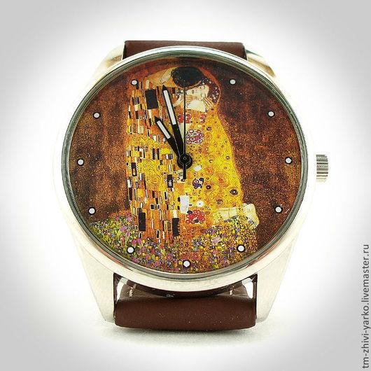 """Оригинальные дизайнерские наручные часы ручной работы """"Поцелуй"""""""