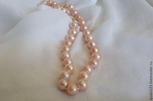 Ожерелье из розового жемчуга АА+ LyuPearls