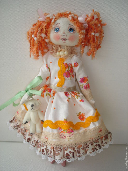 Куклы тыквоголовки ручной работы. Ярмарка Мастеров - ручная работа. Купить Кукла Майя. Handmade. Рыжий, кукла ручной работы
