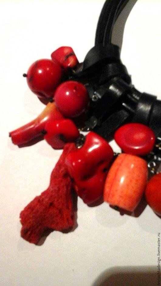 Комплекты украшений ручной работы. Ярмарка Мастеров - ручная работа. Купить Красное и чёрное. Handmade. Ярко-красный, Камни натуральные