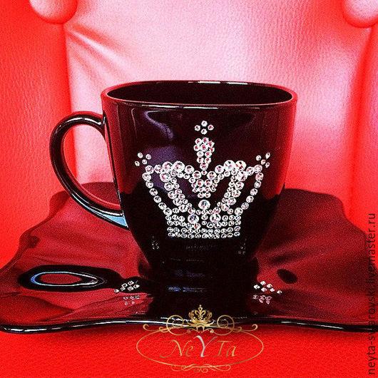 """Сервизы, чайные пары ручной работы. Ярмарка Мастеров - ручная работа. Купить Чайная пара """"Царская"""".. Handmade. Черный"""
