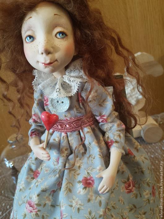 Коллекционные куклы ручной работы. Ярмарка Мастеров - ручная работа. Купить Любочка-сердцеедка авторская кукла из ладолла 28см. Handmade.