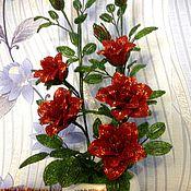 Цветы и флористика handmade. Livemaster - original item Rose Bush beaded. Handmade.