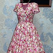 """Одежда ручной работы. Ярмарка Мастеров - ручная работа Платье в ретро стиле """"Небесное притяжение 4"""". Handmade."""