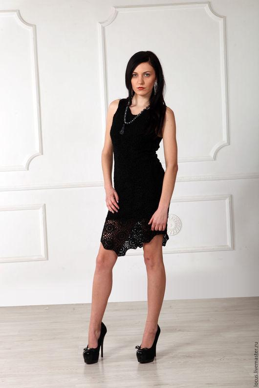 """Платья ручной работы. Ярмарка Мастеров - ручная работа. Купить Платье """"Тихий вечер"""". Handmade. Черный, платье вечернее, трикотаж"""