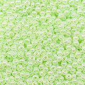 Материалы для творчества handmade. Livemaster - original item 10 grams of 10/0 seed Beads, Czech Preciosa 37152 Premium light green perlmutt. Handmade.