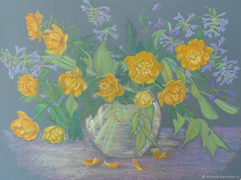"""Картина пастелью.""""Огоньки из Кедрового бора"""" Сибирь, Картины, Кемерово, Фото №1"""