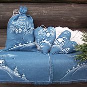 Подарки к праздникам handmade. Livemaster - original item Winter`s tale.... a gift for the new year. Len.Painting.. Handmade.