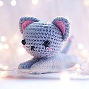 Мягкие игрушки ручной работы. Ярмарка Мастеров - ручная работа Вязаный Котёнок. Handmade.