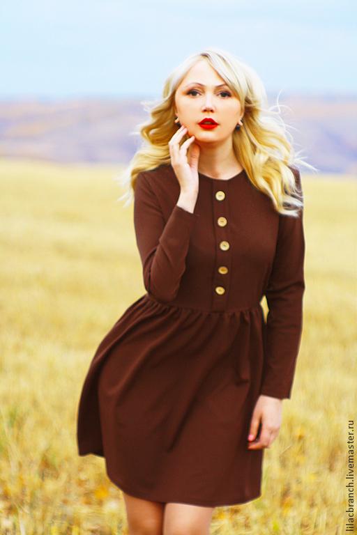 """Платья ручной работы. Ярмарка Мастеров - ручная работа. Купить Платье """"Chocolate"""". Handmade. Коричневый, однотонный, шоколад, шоколадный цвет"""
